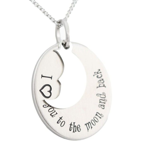 Stainless Steel I Love You To The Moon and Back Pendant (945 CZK) ❤ liked on Polyvore featuring men's fashion, men's jewelry, men's necklaces, white, mens chain link necklace, mens white gold necklace, mens stainless steel necklace, mens pendant necklace and mens white gold chain necklace