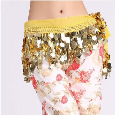 >> Click to Buy << Belly dance costumes senior chiffon sequins gold coins  belly dance belts for women belly dancing hip scarf #Affiliate