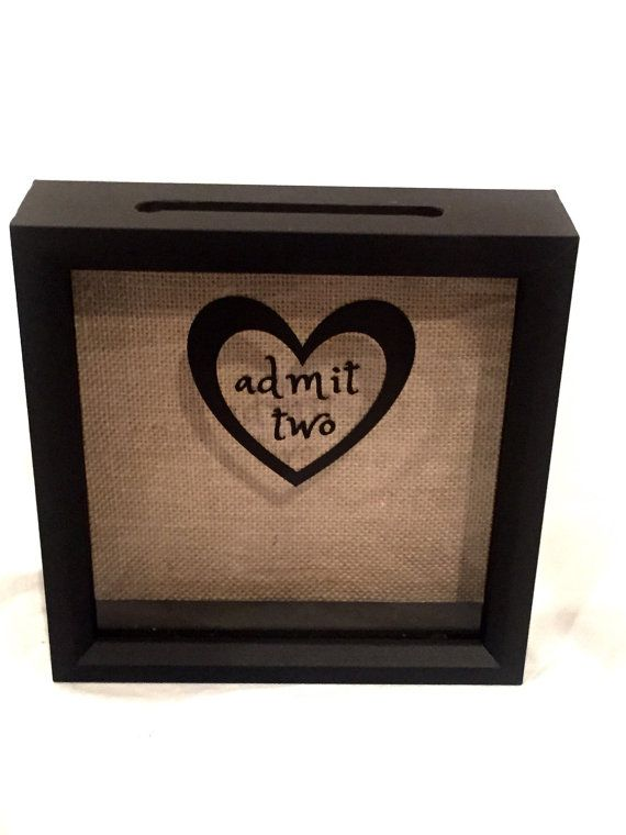 Ticket Stub Holder Shadow Box for a Couple by ReminisceInStyle