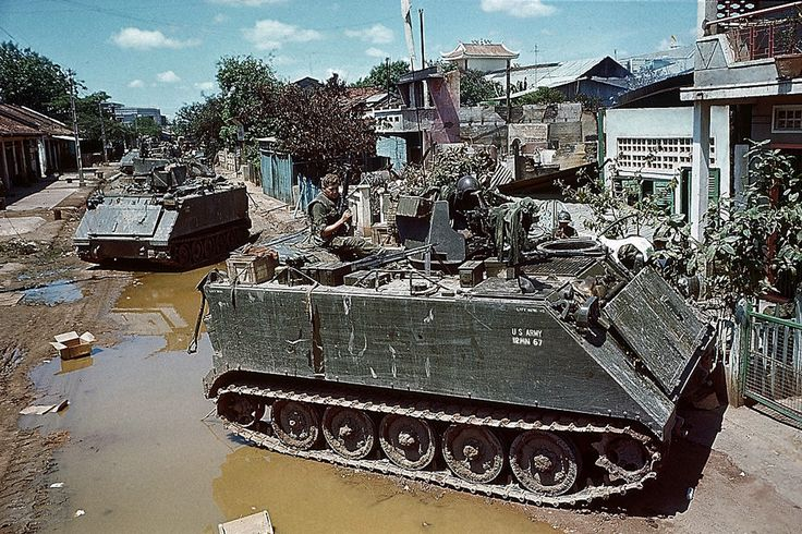 https://flic.kr/p/R6kHv9 | Tet Offensive 1968 - Tanks and armored personnel carriers of the U.S. 25th Infantry Division, May 6th, seal off an area of Cholon where heavy fighting erupted. | 08 May 1968, Saigon, Vietnam --- 5/8/1968-Cholon, Vietnam- Tanks and armored personnel carriers of the U.S. 25th Infantry Division, May 6th, seal off an area of Cholon where heavy fighting erupted.  The Cholon section continued to be the main battle ground May 8th as the Communists pressed their…