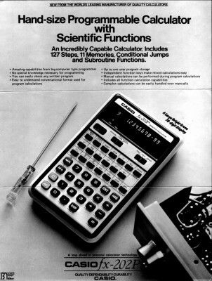 MY FIRST PROGRAMMABLE CALCULATOR
