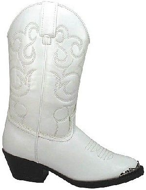 Kids Western Boots in White