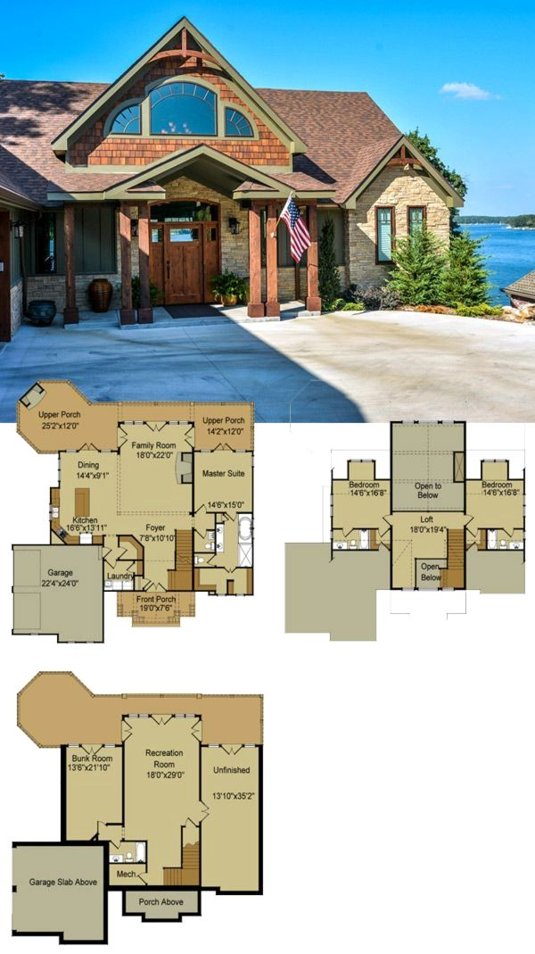 River S Reach By Max Fulbright Is A Mountain Home House Plan With Craftsman Details Rustic Mater Cottage House Plans Mountain House Plans Basement House Plans