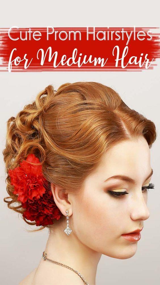 ★★★★★ 40 - Cute Prom Hairstyles for Medium Hair