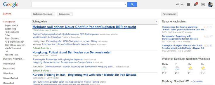 Google News wird in Spanien zum 16.12.2014 eingestellt. Der Sieg der Politik über Google.