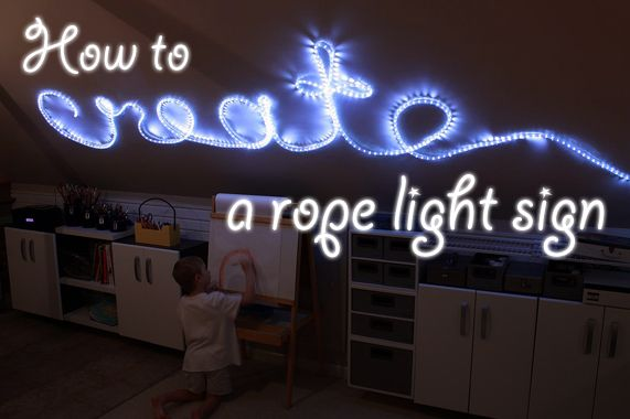how to create a rope light word wall art sign