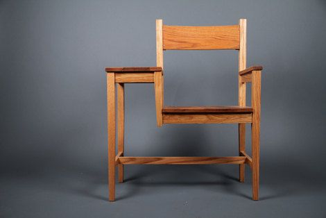 Love this. Oak Writing Chair