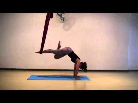 ▶ Aerial Hammock Conditioning - FULL Workout - Aerial Asana/Yoga - Lydia Michelson-Maverick - YouTube