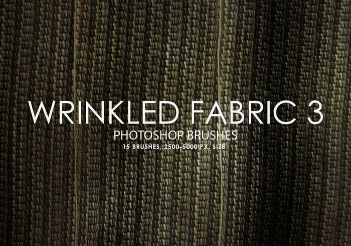 Free Wrinkled Fabric Photoshop Brushes 3