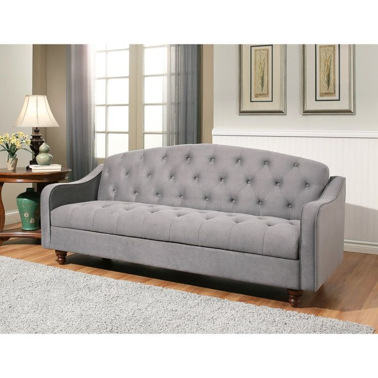Abbyson Living Cordell Tufted Sofa Bed Gray Ky 177 Gry