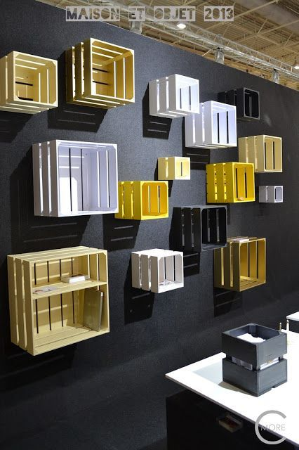 C-More : High-lights Maison et Objet 2013 part 2 | Wall covering | Crates on wall