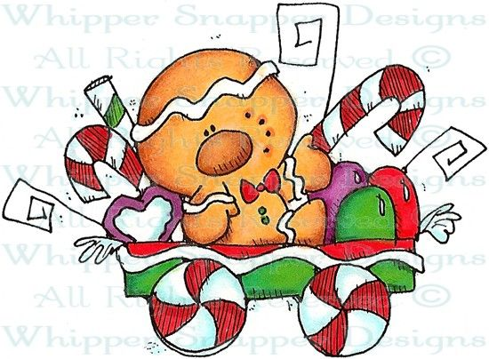 Gingerbread Wagon - Christmas Images - Christmas - Rubber Stamps - Shop