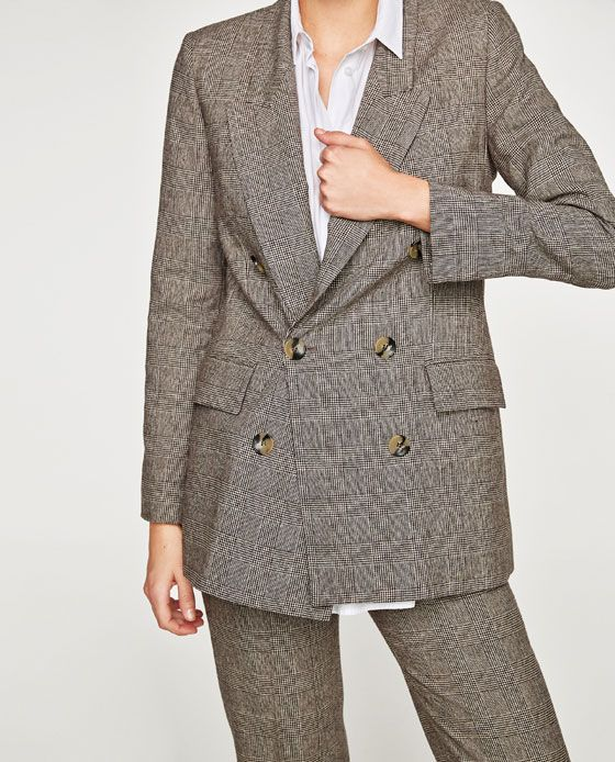 Image 7 of CHECKED DOUBLE BREASTED JACKET from Zara