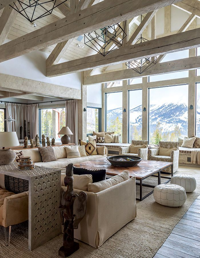 This cozy mountain home reflects the beauty of the Rockies while also being modern, light, and airy.