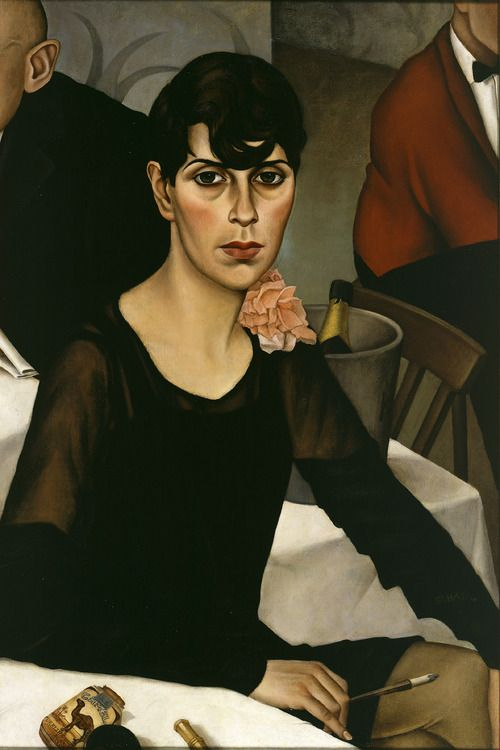 Portrait of a Weimar Berlin gender-bender by Christian Schad, circa. 1930s.