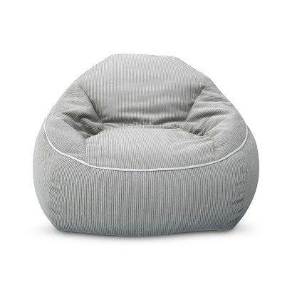 XL Corduroy Bean Bag Chair - Pillowfort™ - Gray