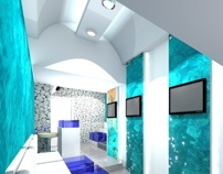 35 s.m. completely transformed into a designed & relaxing fish spa