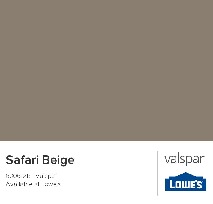 Safari Beige From Valspar Color Pallettes Pinterest