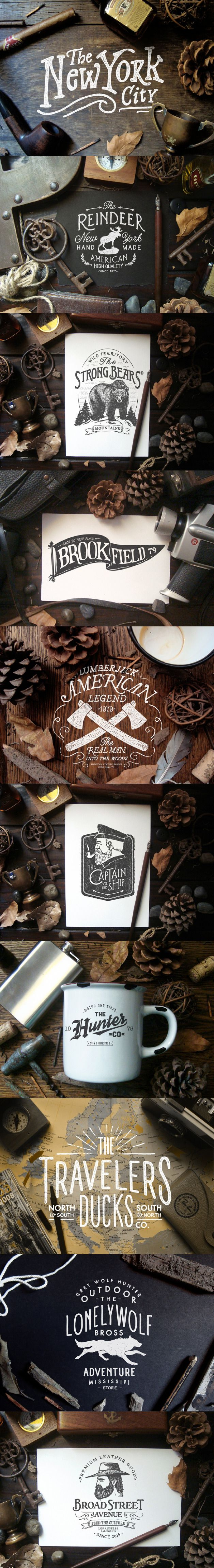 American Rustic // #Typography #GraphicDesign #Inspiration