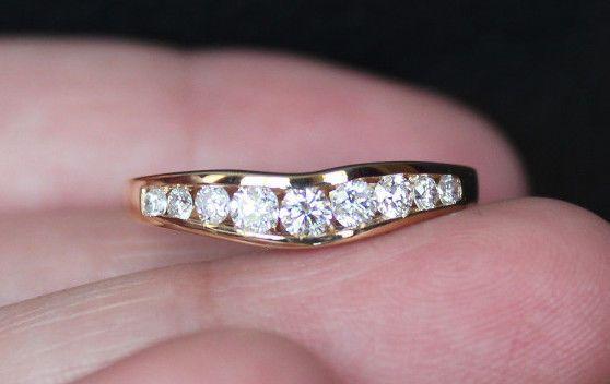 New Zales 14k 0 4ct Diamond Chevron Ring Wedding Band