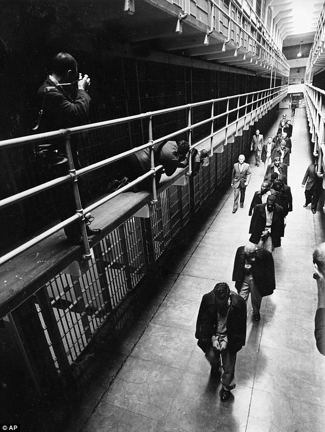 March 21, 1963. The last prisoners depart from Alcatraz Island federal prison in San Francisco