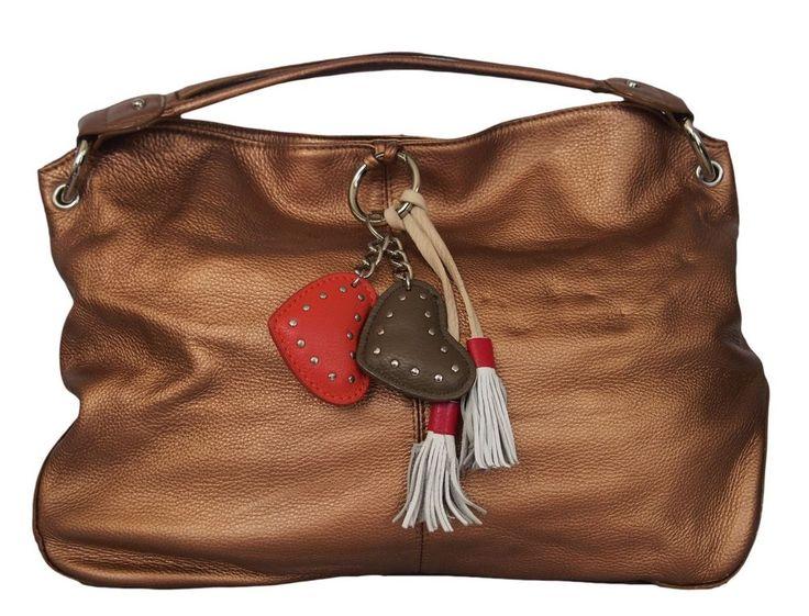 ESCADA SPORT Womens Handbag Leather Bronze #ESCADASPORT #Hobo