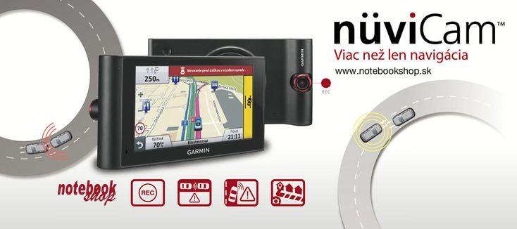 Garmin nüviCam - Garmin nüviCam je GPS navigácia so zabudovanou kamerou a s funkciami pre bezpečnejšiu jazdu.