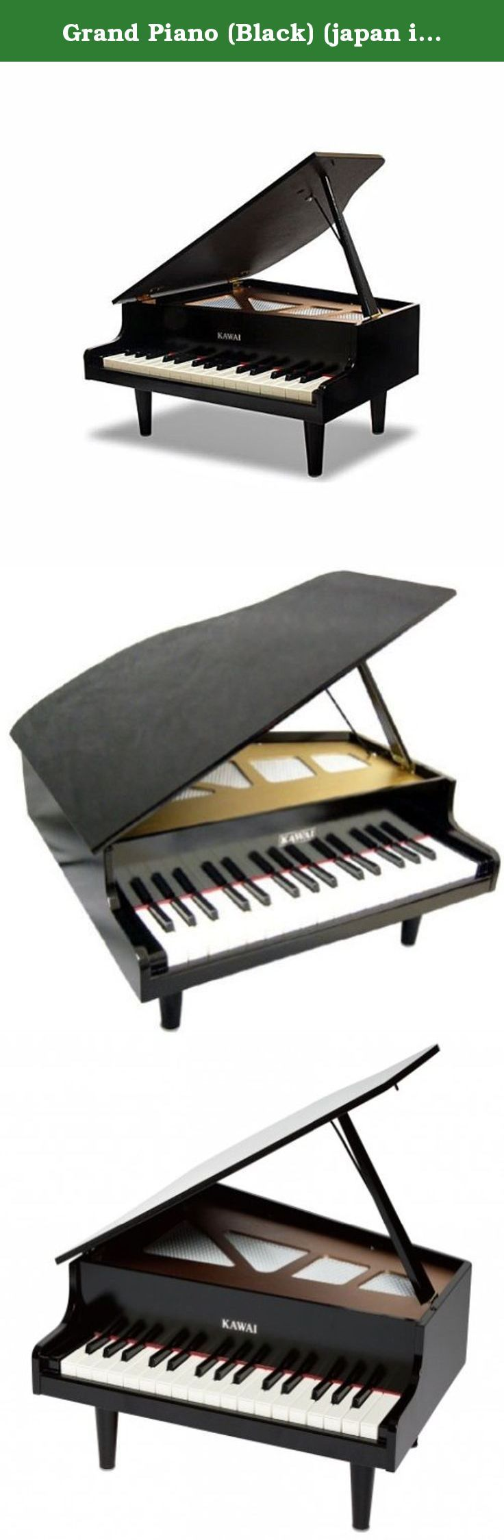 "Grand Piano (Black) (japan import) by Kawaigakkiseisakusho. A beautiful tone, a reliable interval. It is high quality which piano maker ""Kawai"" makes [grand piano of the toy]."