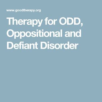 Therapy for ODD, Oppositional and Defiant Disorder