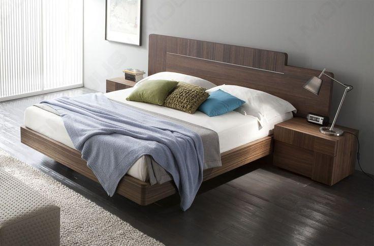 Лаковая Сделано в Италии из дерева и кожи Роскошная кровать платформы с Tufted Headboa Сан-Диего Калифорния RSAIR