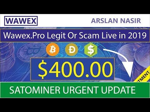 Wawex pro Free Bitcoin Cloud Mining Site Legit Or Scam Live
