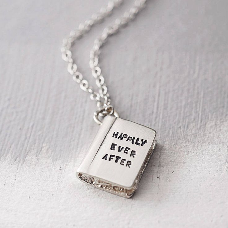 Gift for Book Lover - 'once upon a time' silver story book necklace by bug | notonthehighstreet.com