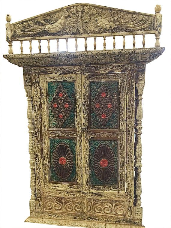 Vintage Floral Rustic Terrace Window Indian Style By MOGULGALLERY
