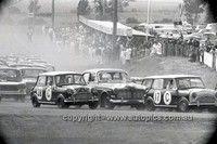 Paddy Hopkirk & Brian Foley / Bill Stanley & Fred Gibson, Morris Cooper S - Gallaher 500 Bathurst 1966.   v@e.