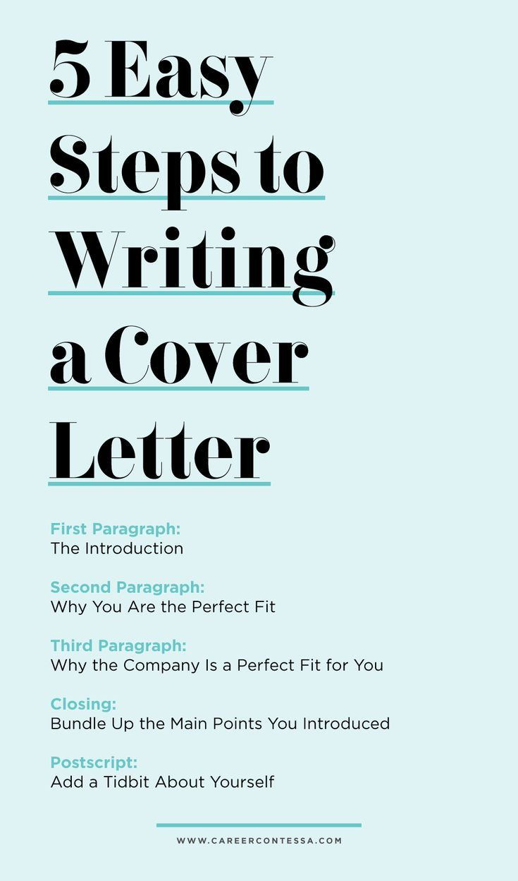 5 Easy Steps To Writing A Cover Letter Cover Letter Tips