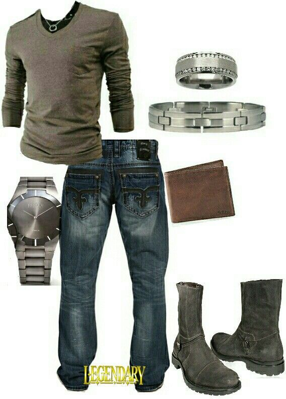 Men's fashion casual jeans outfit Maybe. - badass mens jewelry, high end mens jewelry, mens online jewelry stores