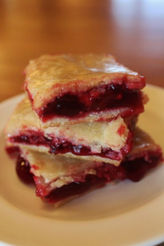 cherry pie squares - could make these gf