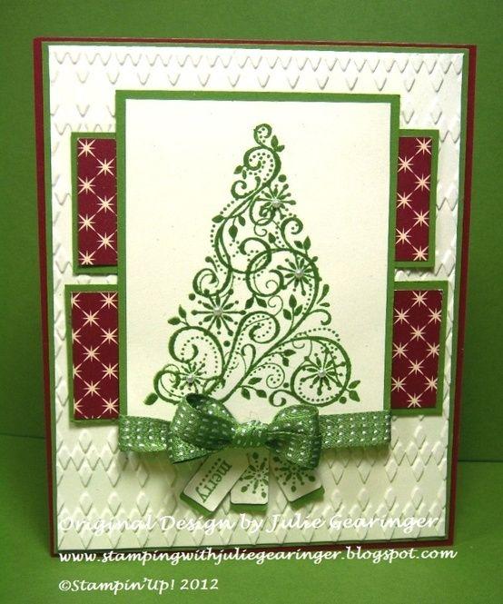 Christmas card @Samantha @This Home Sweet Home Blog Shaabang  this swirly tree!