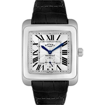 Rotary Men's Mechanical Black Leather Watch - ROTARY-GLE00004-21