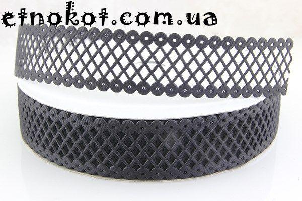 Черная сетка-лента для чокера, 22мм