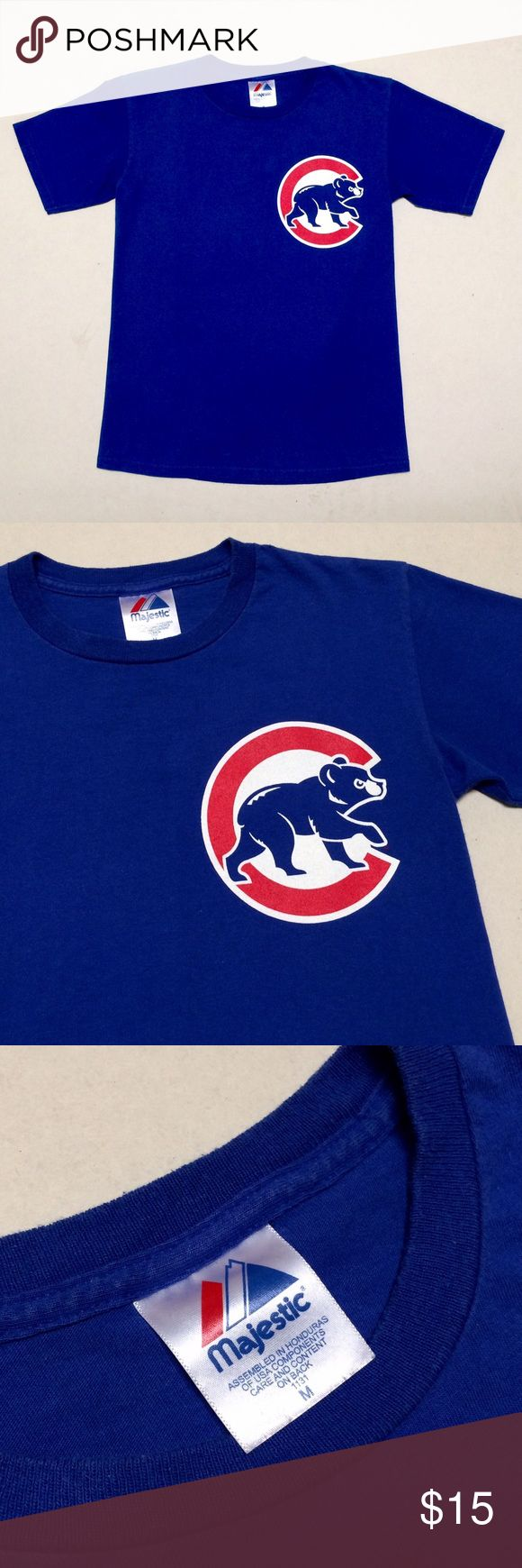 Chicago Cubs T-shirt  🐻 Chicago Cubs  ⚾️ Boys T-shirt   Size Boys Medium  Fits Women's Small   All-time great Derrek Lee #25  🐻  Lightly worn but excellent condition! Majestic Shirts & Tops Tees - Short Sleeve
