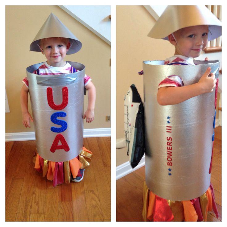 Halloween Homemade Rocket Ship Costume