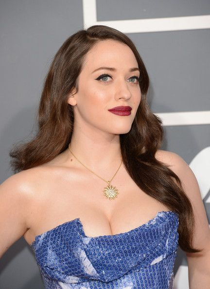 Kat Dennings arrives at the 55th Annual GRAMMY Awards