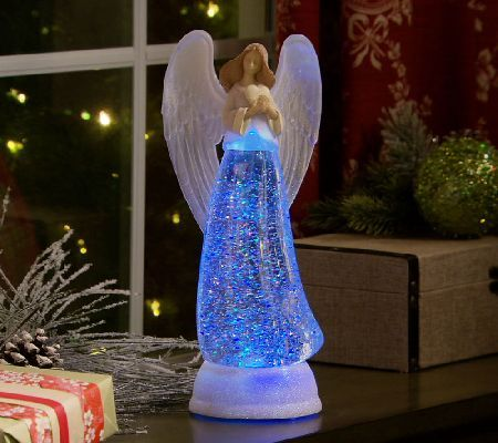 12 Quot Inspirational Glitter Angel With Timer By Valerie