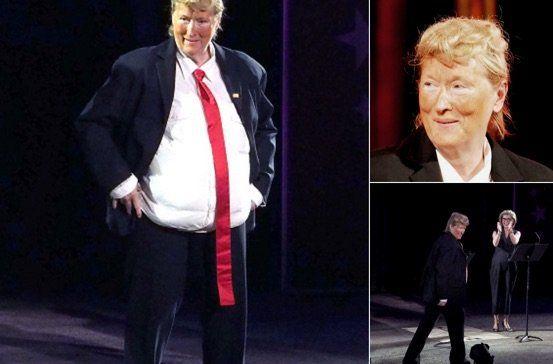 Meryl Streep does Donald Trump drag for charity  June 7, 2016