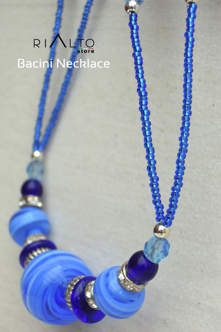 Miss Vogue!!! Colors of Summer - Be empowered by colors and styles. This Murano Glass Beads Bacini Necklace is the Art and fashion. And ALL because you we love hot Summer, Creativity and Desire to Look Gorgeous.