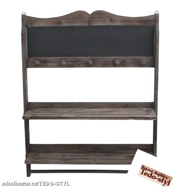 Dřevěný věšák s tabulí Francouzský styl