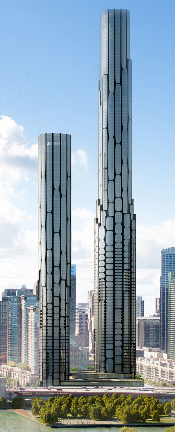 Another conceptual rendering for Chicago Spire redevelopment surfaces - Curbed Chicagoclockmenumore-arrownoyes : While striking, the proposal is not the design developer Related Midwest will build at 400 N. Lakeshore Drive