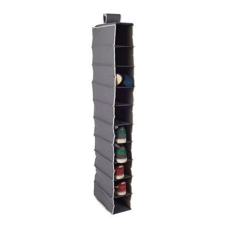 Howards Storage World   Easy Hang Shoe Organiser Premium -10 Pockets - Grey