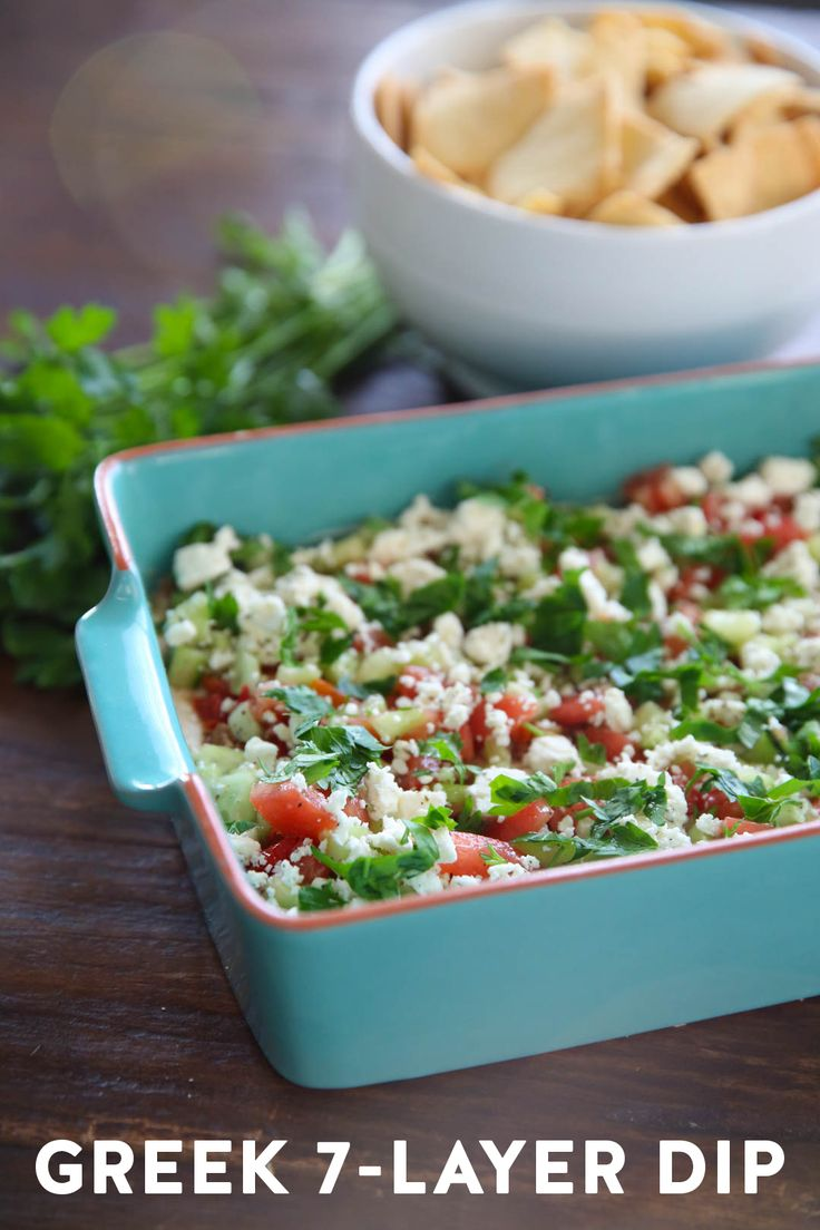 Greek Seven Layer Dip from Our Best Bites